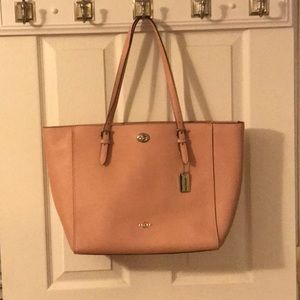 Pink Coach laptop purse (large 18 x 11 inches)
